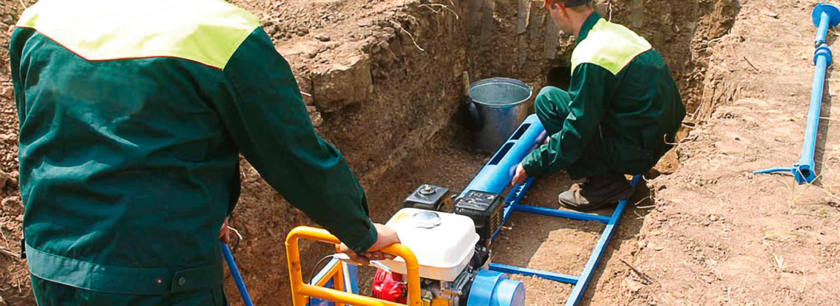 ванную под прокладка водопровода в земле путем прокола уже при фактическом